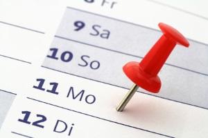 Kündigungsfristen im Mietrecht können bei drei, sechs oder neun Monaten liegen.